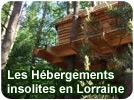 Hébergements insolites en Lorraine 57, 54, 55 cabane, yourte, tipi, dormir insolite dans les Vosges