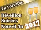 Soirée repas menu réveillon Nouvel An 2016 2017 en Lorraine 54, 55, 57, 88 Meurthe-et-Moselle Vosges Meuse