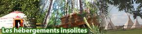 Tous les h�bergements insolites en Lorraine, yourte, cabane dans les arbres, tipi, bulle