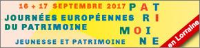 Journées du Patrimoine 2017 Lorraine