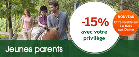 Center Parcs Privilège Jeunes parents