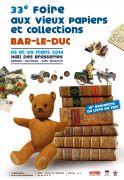 Foire Vieux Papiers et Collections Bar-le-Duc 55000 Bar-le-Duc du 08-03-2014 à 07:00 au 09-03-2014 à 15:00