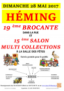 Brocante et Salon des Collectionneurs à Heming 57830 Héming du 28-05-2017 à 05:00 au 28-05-2017 à 18:00