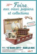Foire Vieux Papiers et Collections Bar-le-Duc 55000 Bar-le-Duc du 11-03-2017 à 07:00 au 12-03-2017 à 15:00