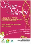 Repas Saint Valentin Fermes Auberges Lorraine Moselle, Meurthe-et-Moselle et Vosges du 14-02-2017 à 17:00 au 19-02-2017 à 21:00