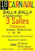 Soirée Carnaval Balla-Balla à Niderviller 57565 Niderviller du 18-03-2017 à 19:11 au 19-03-2017 à 02:00