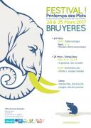 Festival Le Printemps des Mots à Bruyères 88600 Bruyères du 24-03-2017 à 20:30 au 25-03-2017 à 23:00