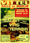 16ème Salon des Vins et Terroir à Vittel 88800 Vittel du 25-03-2017 à 13:00 au 26-03-2017 à 18:00