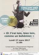 Concert Etudiants Pôle Musique et Danse à Metz
