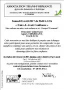 Faire et Avoir Confiance à Nancy 54000 Nancy du 08-04-2017 à 09:30 au 08-04-2017 à 12:00