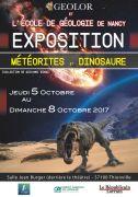 Bourse Exposition Météorites et Dinosaures Thionville 57100 Thionville du 07-10-2017 à 07:00 au 08-10-2017 à 17:00