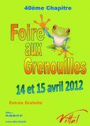 40�me Foire aux Grenouilles de Vittel  88800 Vittel du 14-04-2012 � 10:00 au 15-04-2012 � 19:00