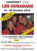 2 soirées Les Ouragans à Laquenexy 57530 Laquenexy du 19-10-2012 à 18:00 au 20-10-2012 à 00:00
