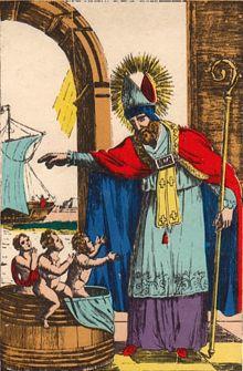 Saint Nicolas et les trois enfants