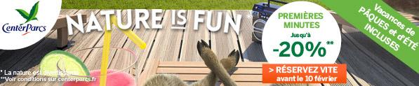 Nature is Fun : premières minutes jusqu/à -20%