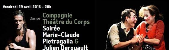 Soirée Marie-Claude Pietragalla Julien Derouault La Passerelle Florange Compagnie Théâtre du Corps