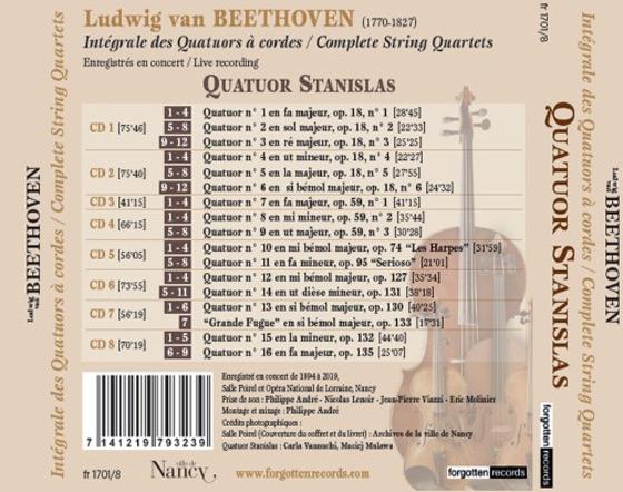 Quatuor Stanislas Coffret 8 CD intégrale Beethoven