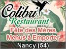 Fête des Mères Restaurant Nancy Colibri en livraison 2020