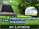 Les hébergements insolites en Lorraine 54 55 57 88