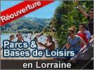 Réouverture Parcs et Bases de Loisirs 2020 en Lorraine