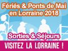 Fériés et Ponts de Mai 2018 en Lorraine