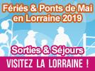 Fériés et Ponts de Mai 2019 en Lorraine