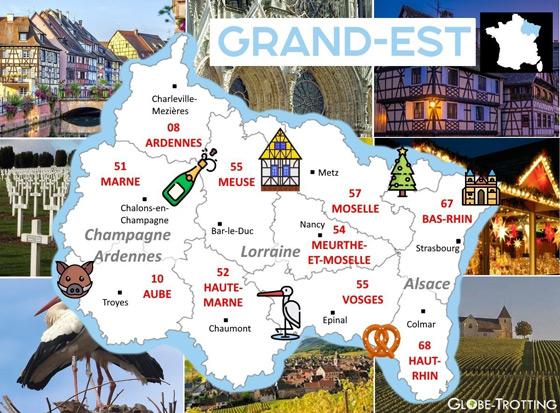 Carte du Grand Est