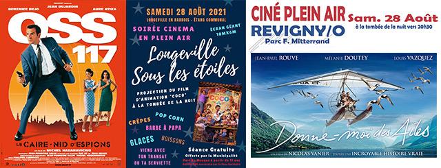 Les Cinémas Plein Air en Meuse Grand Est 2021
