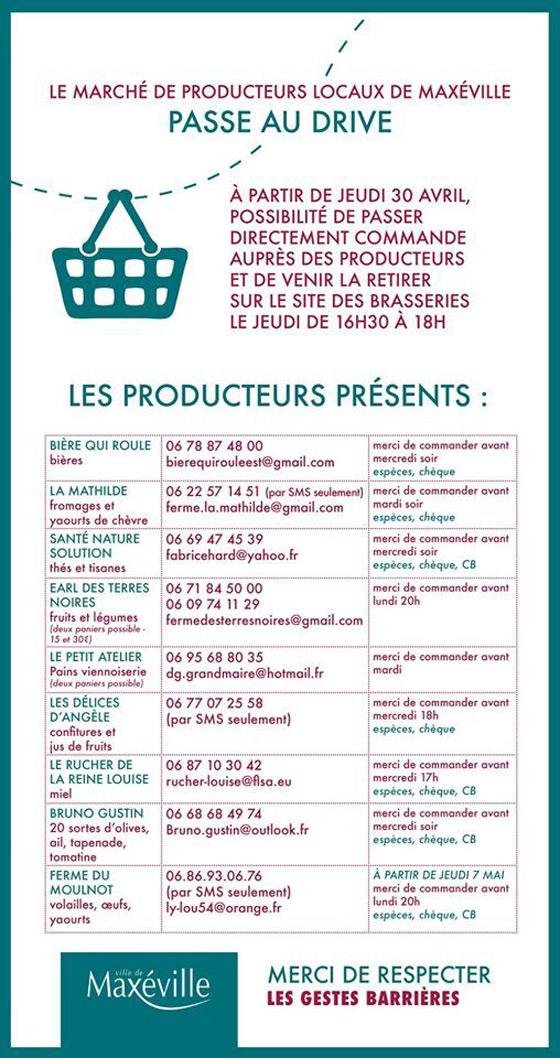 Drive Producteurs Locaux Maxéville 2020 Lorraine