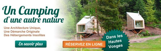 Camping Nature dans les Vosges hébergement insolite