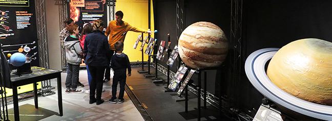 Exposition Voyage dans le Système Solaire Andra Meuse Haute-Marne