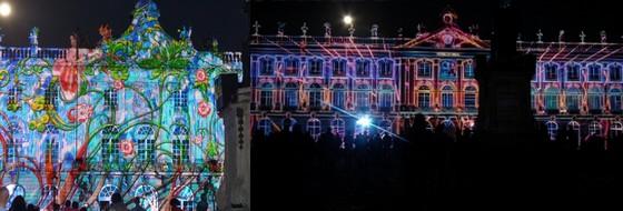 facade son et lumière place stanislas 2016
