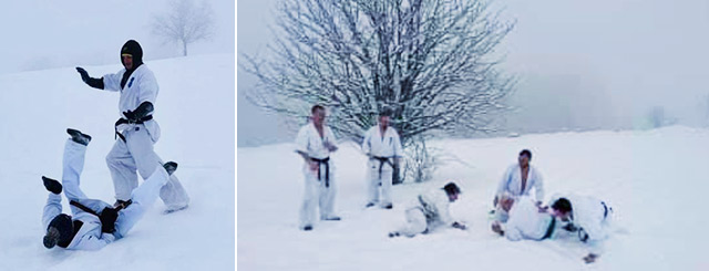karaté neige haut du tot