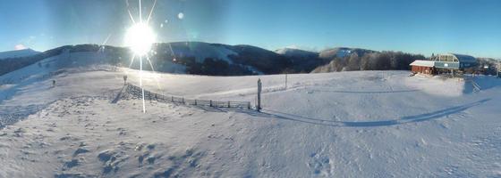 La bresse neige massif des Vosges