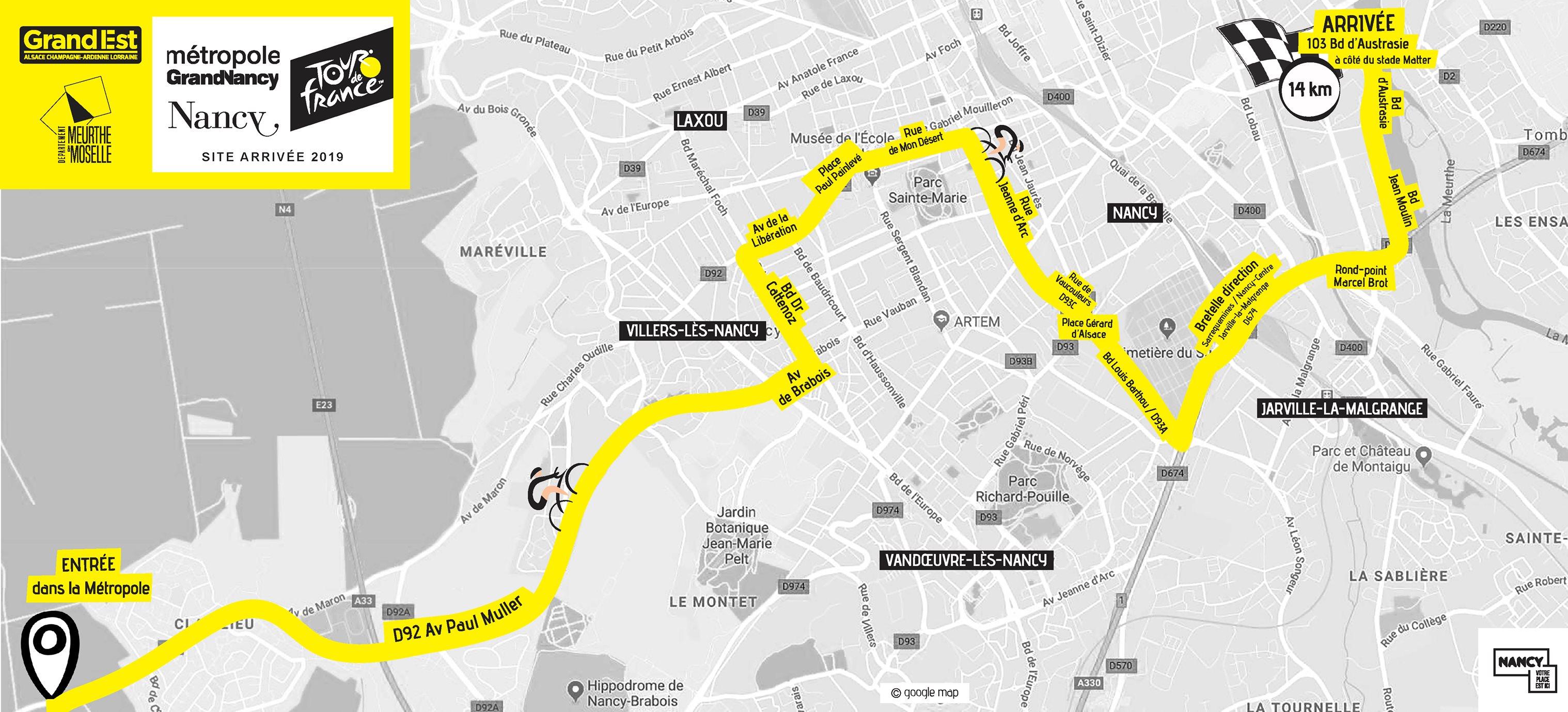 Parcours Tour de France Nancy 2019
