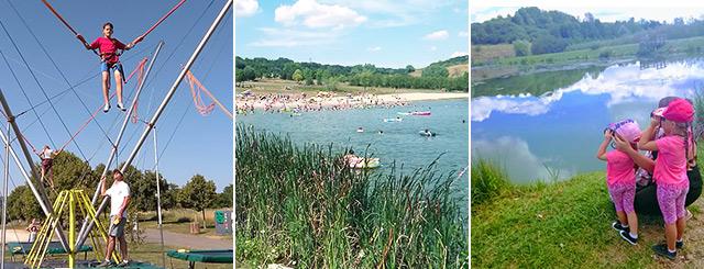 Plage de l'été Base de Loisirs de Favières Meurthe-et-Moselle Lorraine