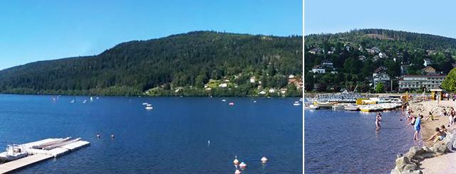 Plage de l'été Lac de Gérardmer Vosges Lorraine