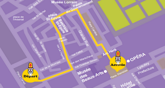 Plan et itinéraire Défilé Saint Nicolas Nancy 2016