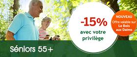 Privilège Séniors 55+ Center Parcs