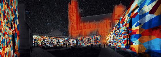 Mise en Lumière Alpha & Oméga à la Cathédrale Saint-Etienne de TOUL