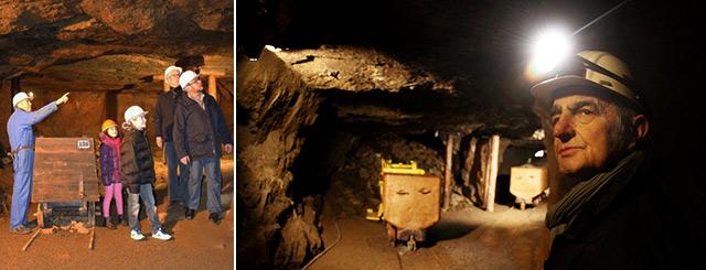 Visites de mines  de Fer NeufChef Lorraine Grand Est