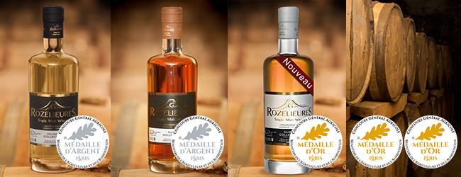 Whisky Rozelieures Plusieurs Médailles d'Or et Argent 2019