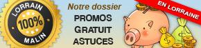 Les Bons Plans, Astuces, Gratuits, Réductions, Promos et Bonnes Affaires en Lorraine dans notre Dossier