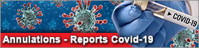 Annulations reports événements Coronavirus