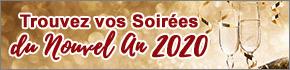 Trouvez votre soirée repas réveillon à Nancy, Metz, 57, 54, 88, 55, fêtes de Noël en Lorraine