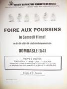 Foire poussins oeufs à Dombasle-sur-Meurthe 54110 Dombasle-sur-Meurthe du 11-05-2013 à 07:00 au 11-05-2013 à 14:00