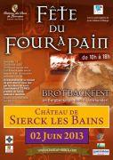 Fête du four à pain à Sierck-les-Bains 57480 Sierck-les-Bains du 02-06-2013 à 08:00 au 02-06-2013 à 16:00