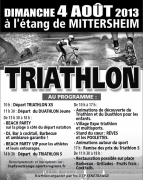 Triathlon de Fénétrange Mittersheim Beach Party 57930 Mittersheim du 04-08-2013 à 08:00 au 04-08-2013 à 16:00