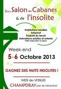 Salon des Cabanes et de l'Insolite Vosges 88640 Champdray du 05-10-2013 à 08:00 au 06-10-2013 à 16:00