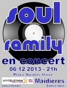 Soul Family Concert pour Téléthon 2013 à Maidières 54700 Maidières du 06-12-2013 à 19:00 au 06-12-2013 à 21:30